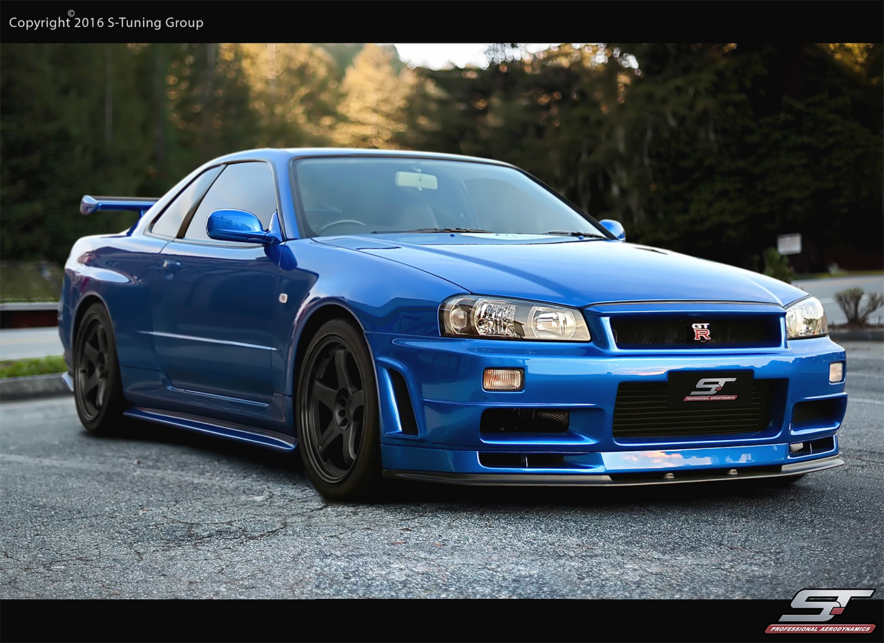 Showoff imports nissan skyline r34 gtt z tune n1 wide for Nissan gtr bodykit