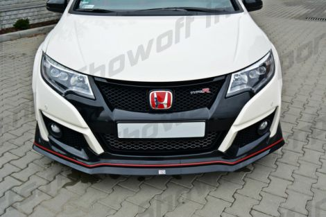 Honda Civic Type R FK2 15+ MXT Front Lip ABS Gloss Black V2