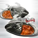 Honda Delsol 92-97 Black/Amber 1-Piece JDM Headlights