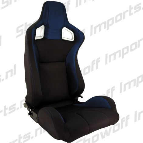 SPL Adjustable Racing Seat Model RS6 Black/Blue Fabric