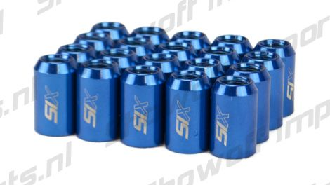 SIX Performance STEEL Lug Nuts 32mm 12x1.50 Blue V4 20x
