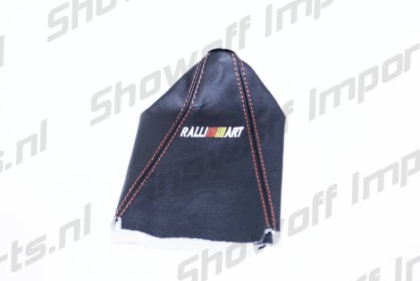 Universal Real Leather Ralli art Style Red Stitch Shift Boot
