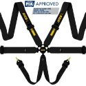 RRS Universal EVO 6 Point Harness 3 Inch FIA-Approved Black