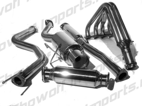 showoff imports honda civic 96 00 3d full exhaust system b series Honda Fit array