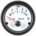 DFI Whiteline Universal Meter Gauge 52mm- Oil Pressure (Bar)