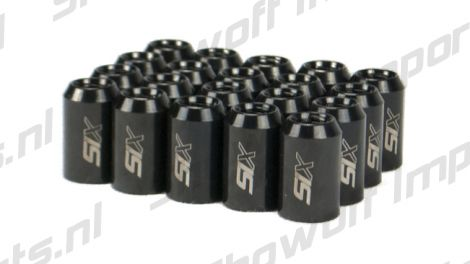 SIX Performance STEEL Lug Nuts 32mm 12x1.50 Black V4 20x