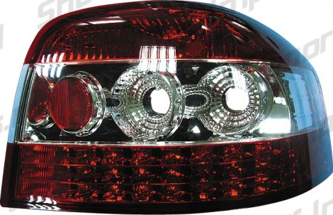 Audi A3 03+ Red/Clear LED Taillights