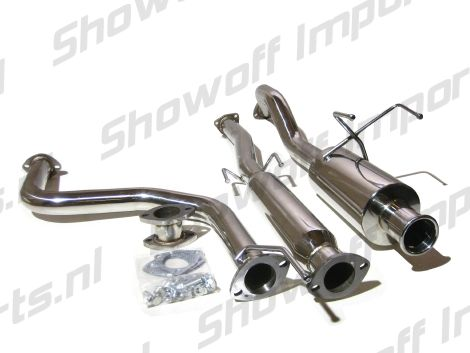 "Stainless Rear 4/"" Tip Cat Back Exhaust System Bolt On for Honda Civic 92-00 2//4d"