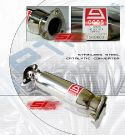Honda Civic/CRX/Sol  88-00 Catalyc Convertor Stainless Steel