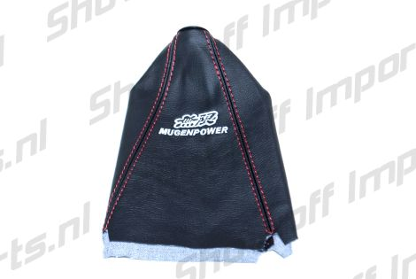 Universal Real Leather Mugen Style Red Stitch Shift Boot