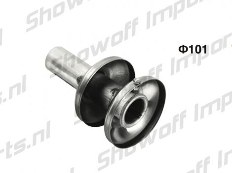 Universal ST Double Layer Exhaust Silencer 10cm / 101mm