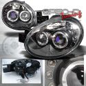 Dodge Neon 03-05 LED Headlights Black [SR]
