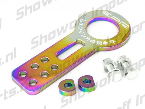 Universal EPR Aluminum Front Tow Hook Neo Chrome Anodized
