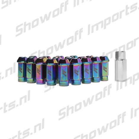 Mishimoto Aluminium Locking Lug Nuts M12 x 1.25 Neo Chrome