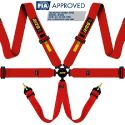 RRS Universal EVO 6 Point Harness 3 Inch FIA-Approved Red
