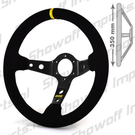 RRS Uni Race/Drift 90mm Dished Steering Wheel 350mm CARBON