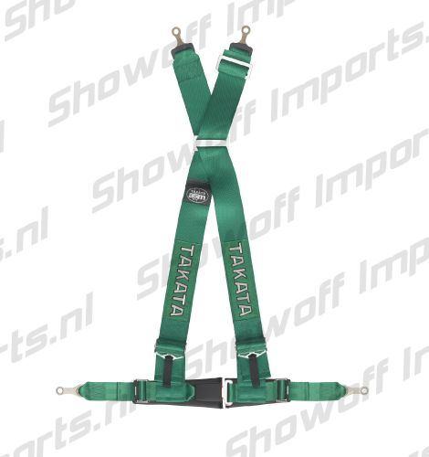 Takata Racing Harness DRIFT III 4-Point Green Bolt-on