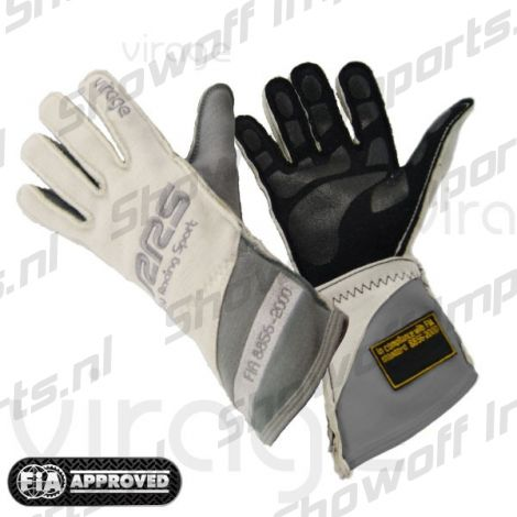 RRS Virage II Racing Gloves FIA-Approved White/Grey Size S
