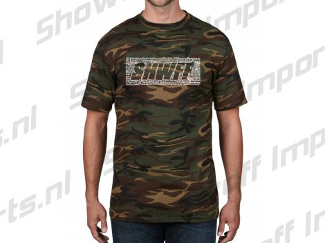 Showoff Camouflage Fitted Casual Shirt SHWFF Size S