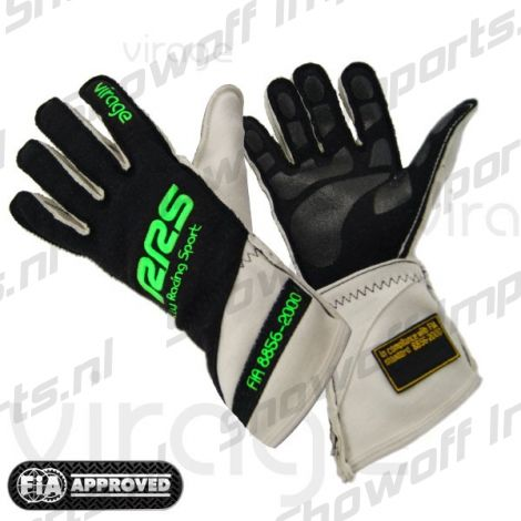 RRS Virage II Racing Gloves FIA-Approved Green Size L