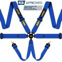 RRS Universal EVO 6 Point Harness 3 Inch FIA-Approved Blue